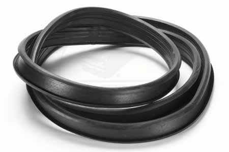 Rear Glass Channel Seal With Double Groove For Chrome Strip For All 1949 To 1951 Fords.